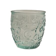 Mediterranean Wave 8-ounce  Ice Clear Wine Tumbler (Set of 4)