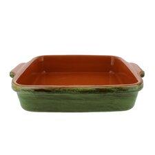 Classic 9-Inch  Cilantro Green Stoneware Square Baking Dish