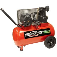 20 Gallon 2HP Electric Powered Portable Air Compressor with Wheels