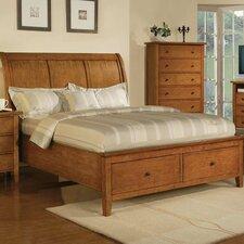 Vintage Storage Sleigh Bed