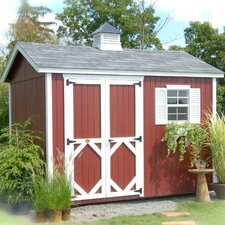 8 Ft. W x 10 Ft. D Wood Garden Shed