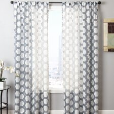 Relic Rayon Rod Pocket Single Curtain Panel