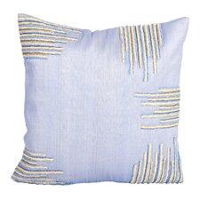 Sea Side Beaded Corners Natural/Organic Throw Pillow