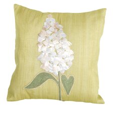 Sea Side Shell Flower Natural/Organic Throw Pillow