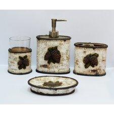Pine Cone 4 Piece Birch Bath Set