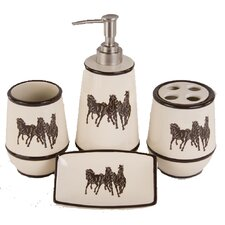 Three Horses 4 Piece Bathroom Set