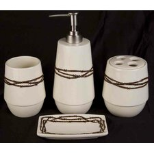 Barbwire 4 Piece Bathroom Set
