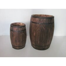 2 Piece Round Pot Planter Set (Set of 4)