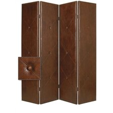 """84"""" x 76"""" Copley Double Sided 4 Panel Room Divider"""