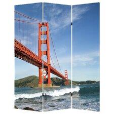 "72"" X 48"" San Francisco 3 Panel Room Divider"