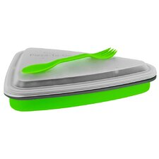 Eco 44 oz. Collapsible Travel Pizza Box with Spork