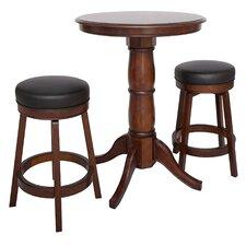 Oxford 3 Piece Hardwood Pub Table Set