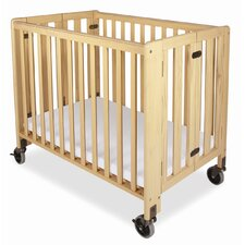 Hideaway Compact Folding Convertible Crib with Mattress