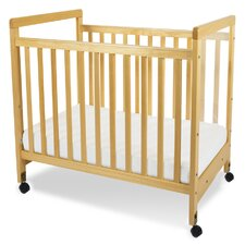 SafetyCraft Compact Size Clearview Convertible Crib with Mattress