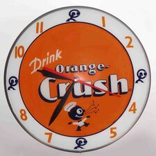 "Double Bubble 14.5"" Crush Wall Clock"