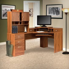Office Adaptations Computer Desk with Hutch