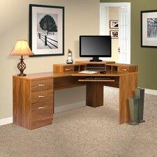 Office Adaptations Reversible Corner Computer Desk
