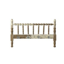 The Painted Porch Wood Spindle Coat Rack with Knobs