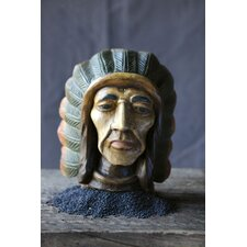 Terrain Carved Mango Wood Indian Head Wall Décor