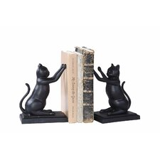 Cast Iron Cat Book Ends (Set of 2)
