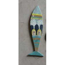 Waterside Recycled Wood Fish Wall Décor