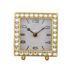 Flirt Square Pewter Clock