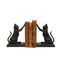 Cast Iron Cat Book End (Set of 2)