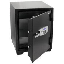 Water Resistant Dual Digital and Key Lock Steel Fire and Security Safe 3.5 CuFt