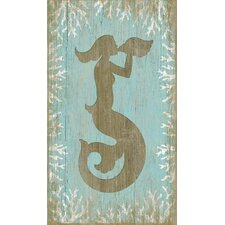 Wood Mermaid Wall Art by Suzanne Nicoll Graphic Art Plaque