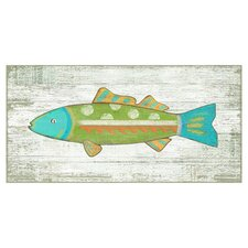 Funky Fish 3 Wall Art by Suzanne Nicoll Painting Print Plaque