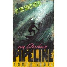 Green Room Surf Vintage Advertisement Plaque