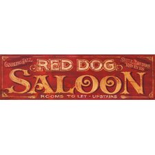 Red Dog Vintage Advertisement Plaque