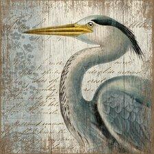 Suzanne Nicoll Blue Heron Graphic Art Plaque