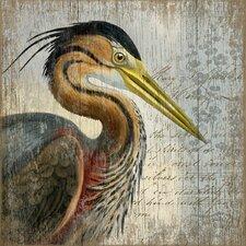 Suzanne Nicoll Heron Graphic Art Plaque