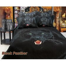 Black Panther Egyptian Cotton 6 Piece Duvet Cover Set