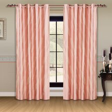 Dolce Mela Capri Cotton Grommet Drape Curtain Panels