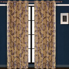 Dolce Mela Venus Cotton Grommet Drape Single Curtain Panel