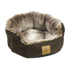 Arctic Fox Snuggle Pet Bed in Brown and Grey