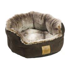Arctic Fox Snuggle Pet Bed in Chocolate