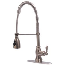 Single Handle Centerset Bar Faucet with Pull Down Spout
