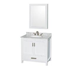 "Sheffield 36"" Single Bathroom Vanity Set with Mirror"