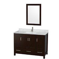 "Sheffield 48"" Single Bathroom Vanity Set with Mirror"
