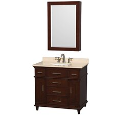 "Berkeley 36"" Single Bathroom Vanity with Mirror"