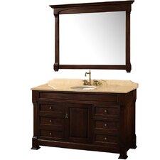 """Andover 55"""" Single Bathroom Vanity Set with Mirror"""
