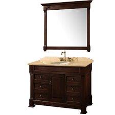"""Andover 48"""" Single Bathroom Vanity Set with Mirror"""