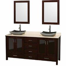 "Lucy 72"" Double Bathroom Vanity Set with Mirror"