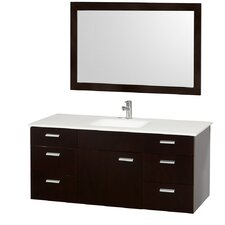 """Encore 52"""" Single Bathroom Vanity Set with Mirror"""