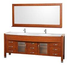 "Daytona 78"" Double Bathroom Vanity Set with Mirror"