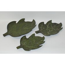 3 Piece Green Leaves Set