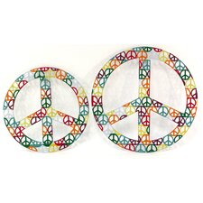 2 Piece Peace Wall Decor